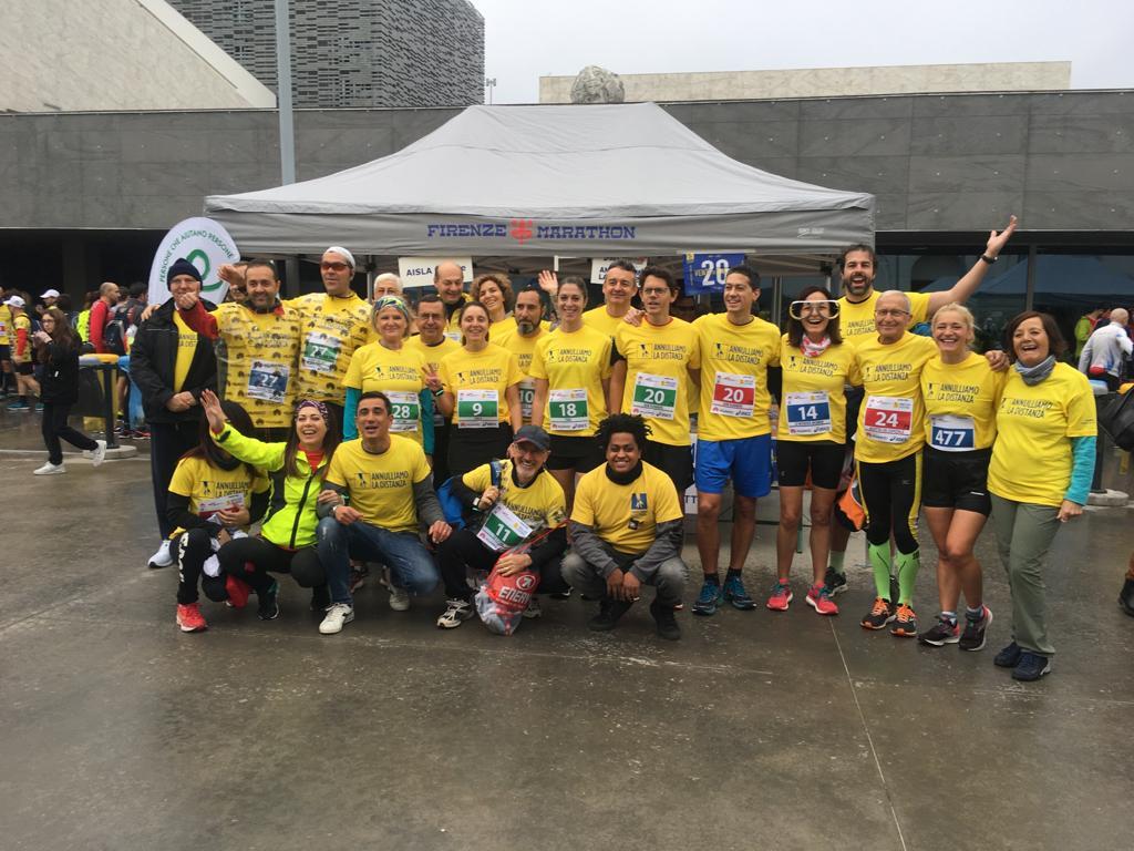 FIRENZE MARATHON 2019: corri per la solidarietà, corri per Annulliamo la Distanza. Un grazie di cuore a tutti i nostri sostenitori!