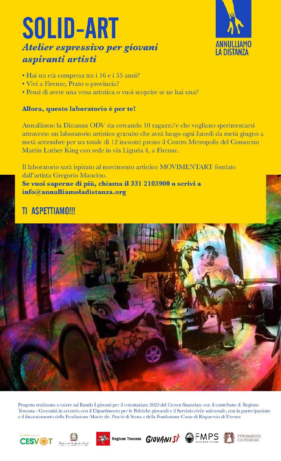 We want you! Iscriviti all'atelier espressivo SOLID-ART per giovani aspiranti artisti